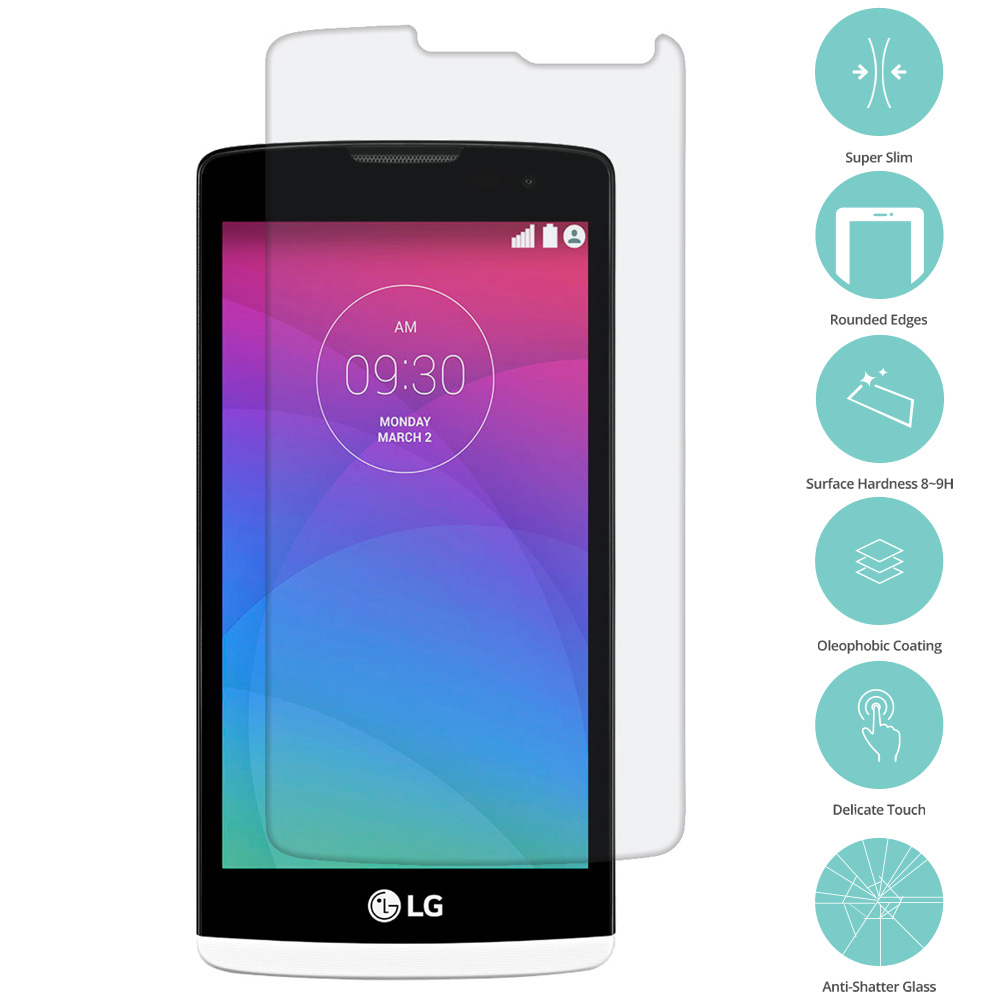 LG Tribute 2 Leon Power Destiny Clear Tempered Glass Film Screen Protector Clear