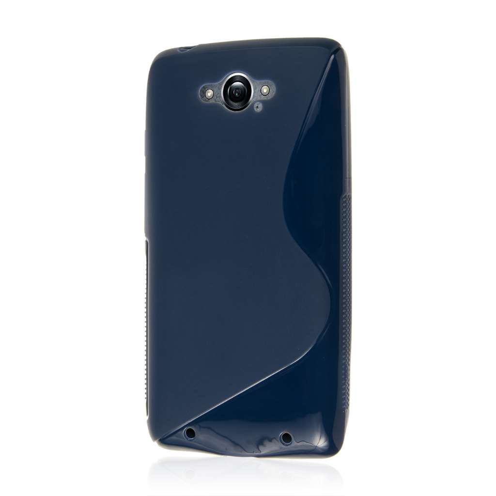 Motorola DROID TURBO - Navy Blue MPERO FLEX S - Protective Case Cover