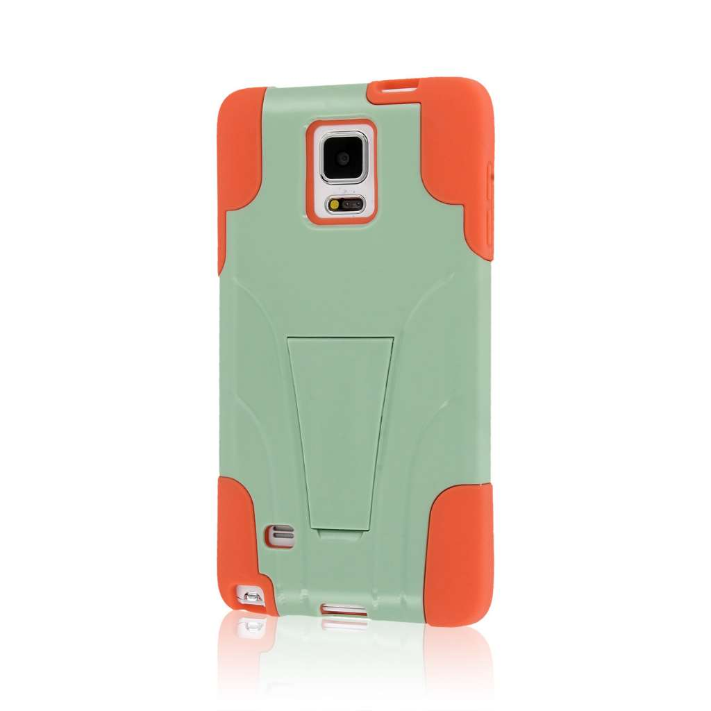 Samsung Galaxy Note 4 - Coral / Mint MPERO IMPACT X - Kickstand Case Cover