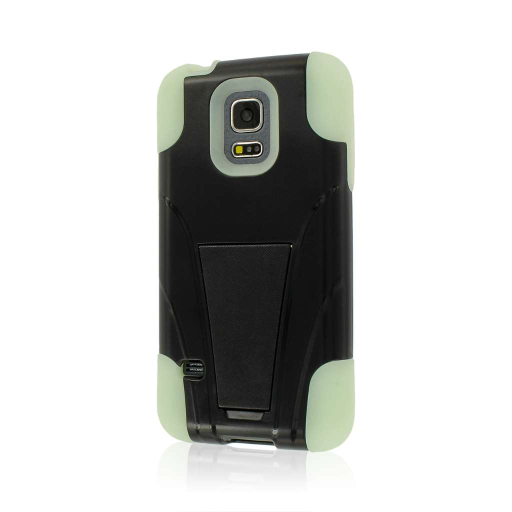 Samsung Galaxy S5 Mini - Glow In The Dark Green MPERO IMPACT X - Stand Case