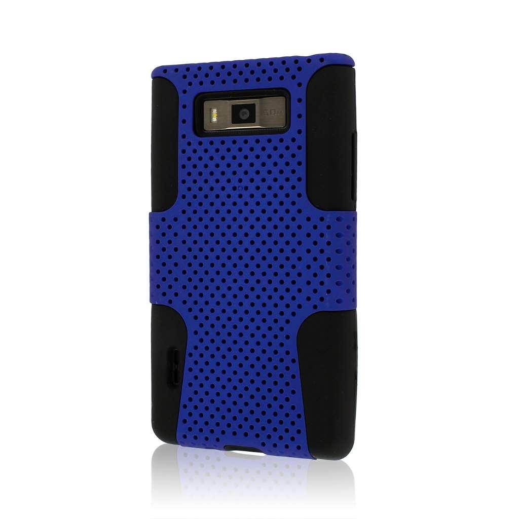LG Venice / Splendor US730 - Blue MPERO FUSION M - Protective Case Cover