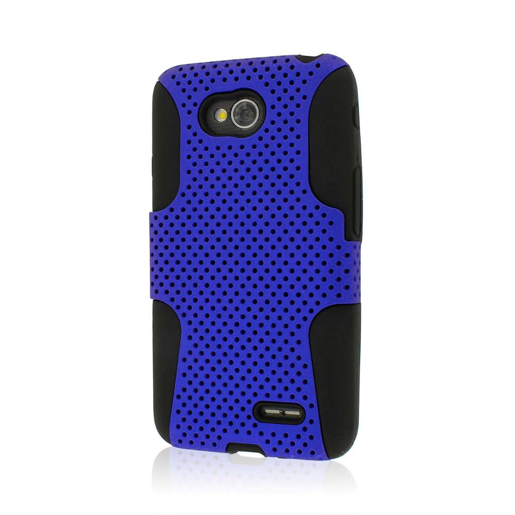 LG Optimus L70 - Blue MPERO FUSION M - Protective Case Cover