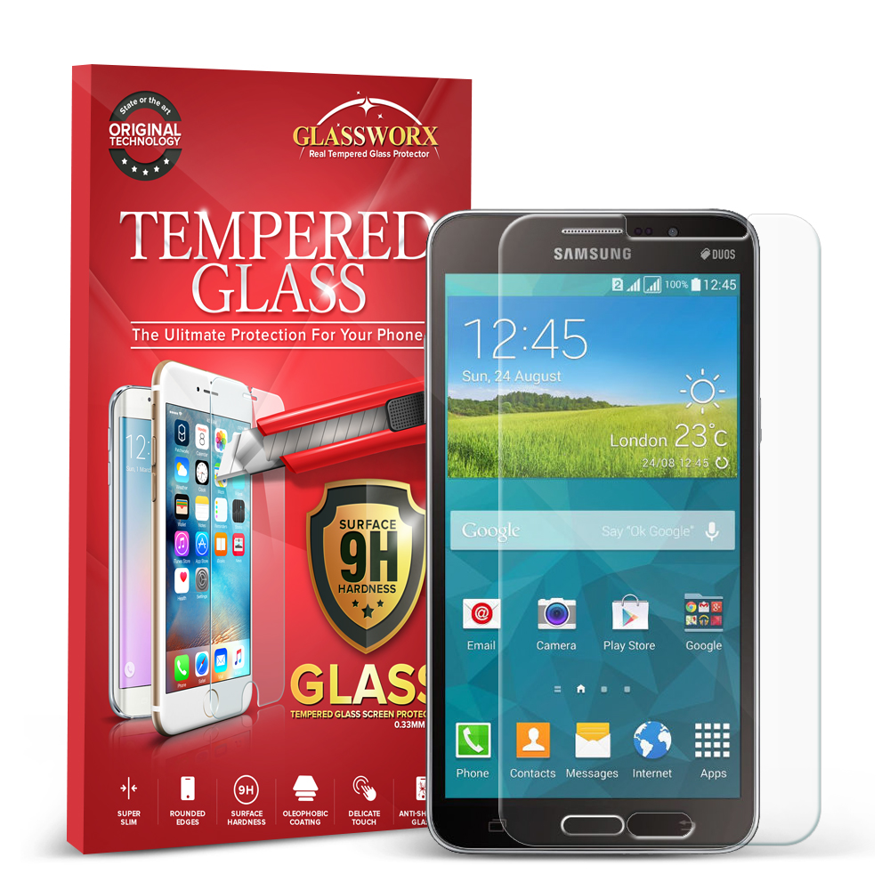 Samsung Galaxy Mega 2 GlassWorX HD Clear Tempered Glass Screen Protector