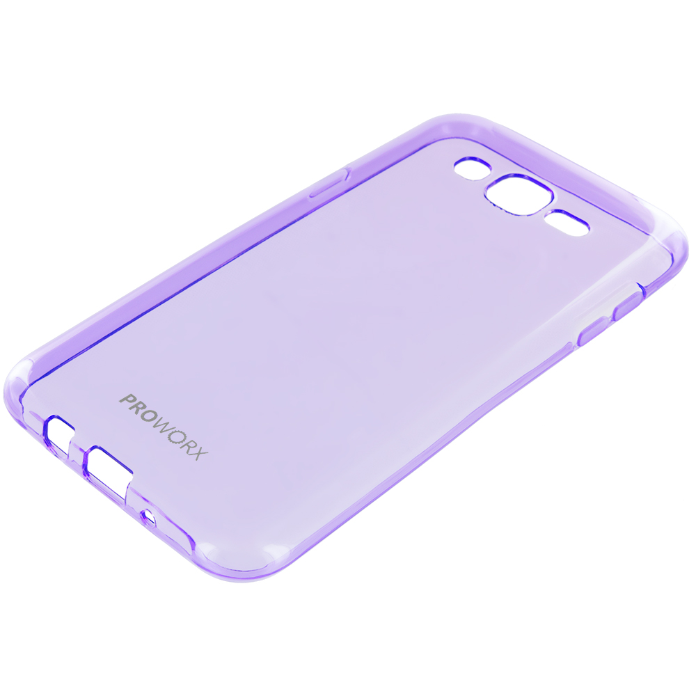 Samsung Galaxy J7 Purple ProWorx Ultra Slim Thin Scratch Resistant TPU Silicone Case Cover