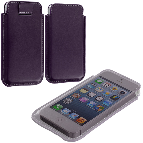 Apple iPhone 5/5S/SE Combo Pack : Pink Sleeve Pouch : Color Purple