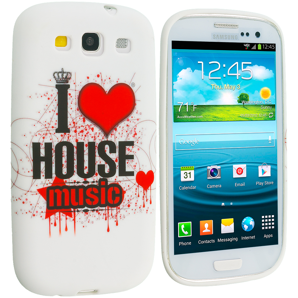 Samsung Galaxy S3 House Music TPU Design Soft Case Cover