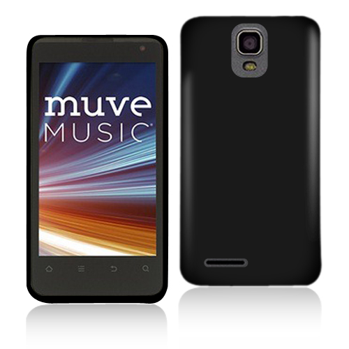 ZTE Engage LT N8000 Black Hard Rubberized Case Cover