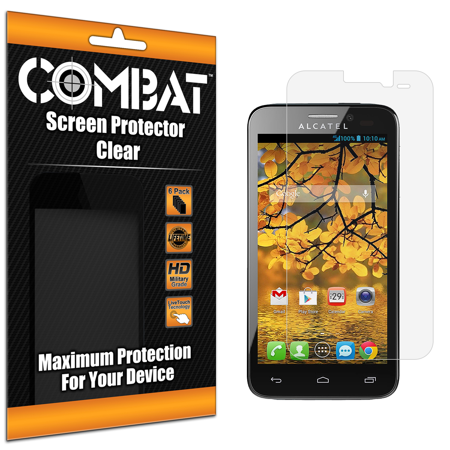 Alcatel One Touch Fierce 7024W Combat 6 Pack HD Clear Screen Protector