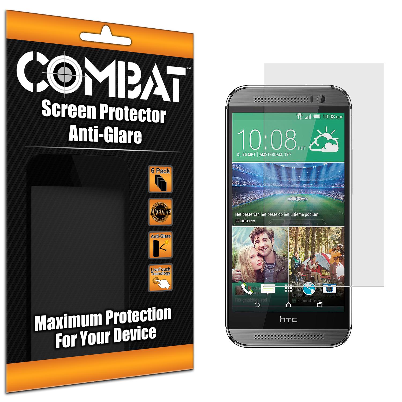 HTC One Mini 2 Remix Combat 6 Pack Anti-Glare Matte Screen Protector