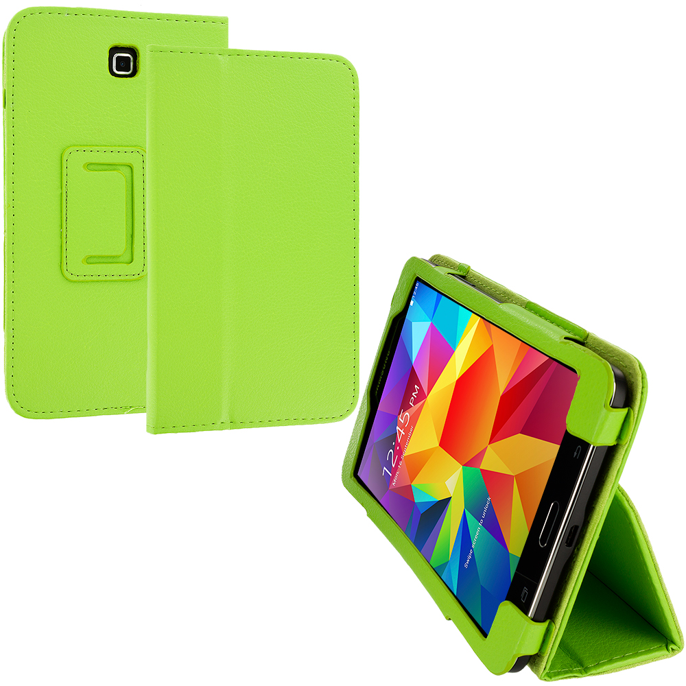 Samsung Galaxy Tab 4 8.0 Green Folio Pouch Flip Case Cover Stand
