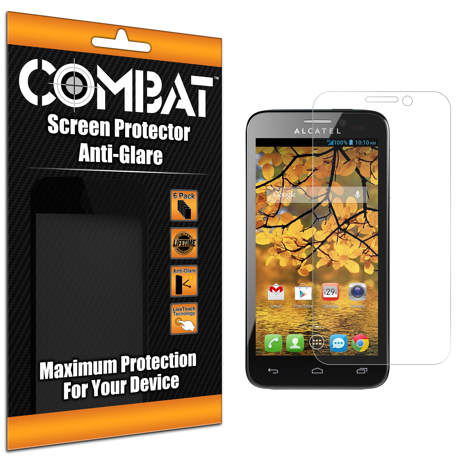 Alcatel One Touch Evolve 2 Combat 6 Pack Anti-Glare Matte Screen Protector