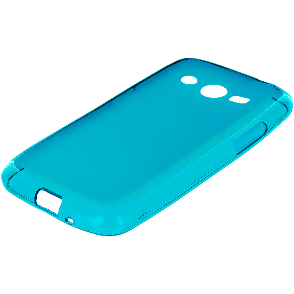 Samsung Galaxy Avant G386 Baby Blue TPU Rubber Skin Case Cover