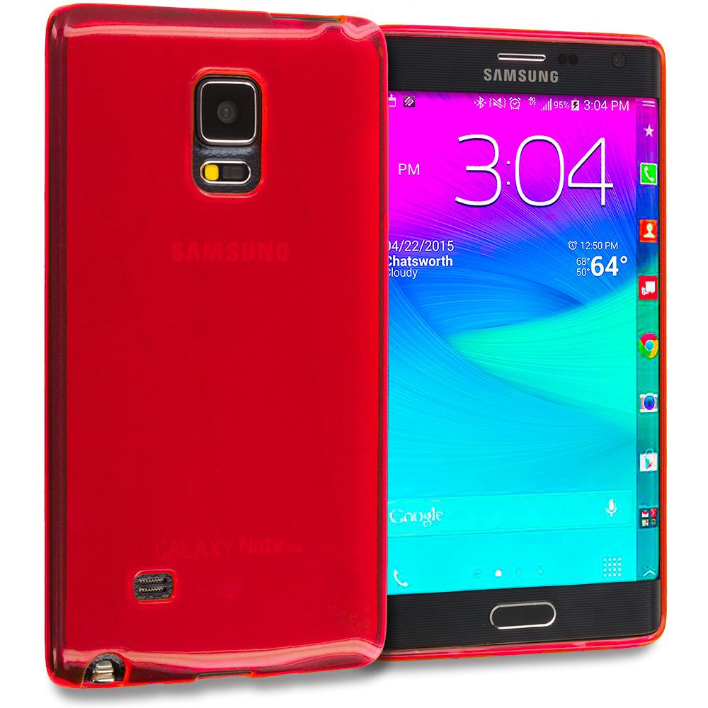 Samsung Galaxy Note Edge Red TPU Rubber Skin Case Cover