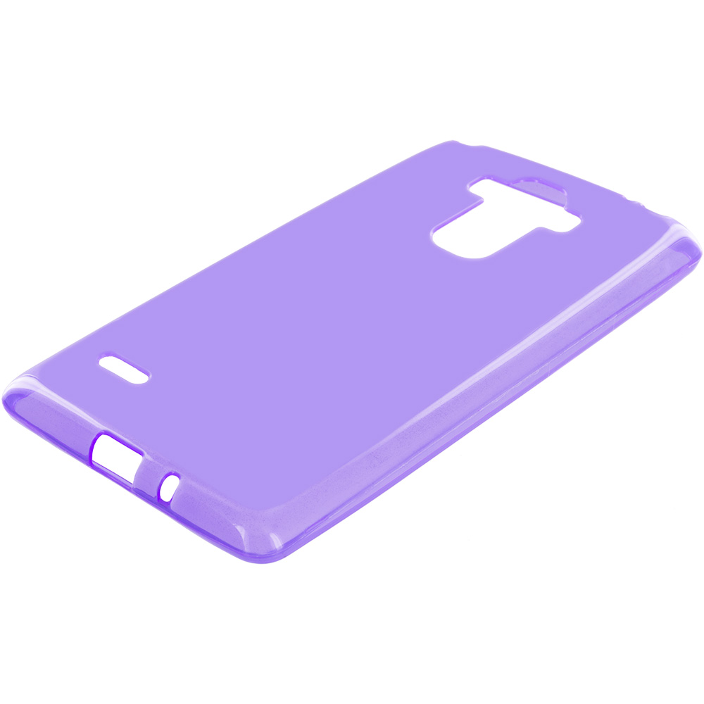 LG G Stylo LS770 / G4 Stylus Purple TPU Rubber Skin Case Cover