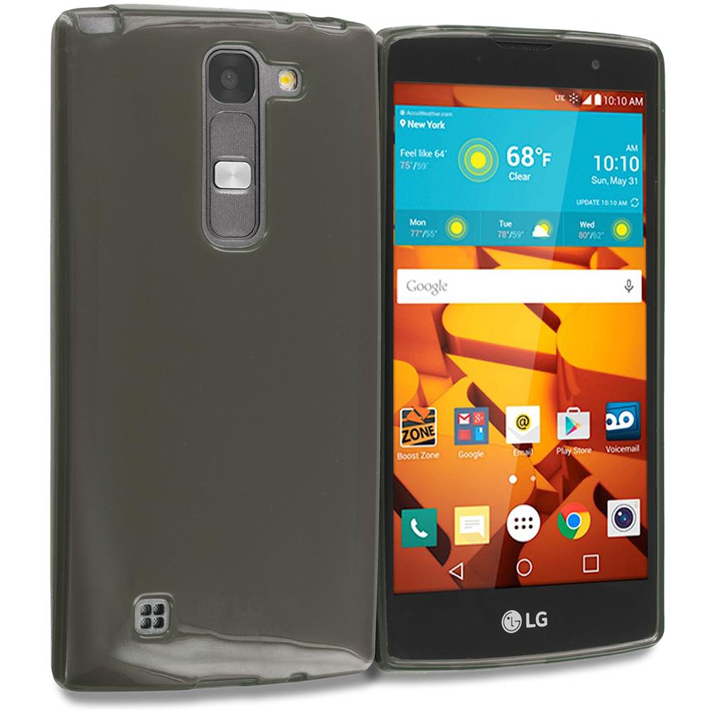 LG Volt 2 LS751 Smoke TPU Rubber Skin Case Cover