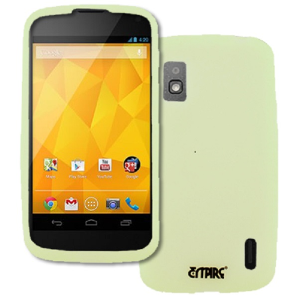 Google Nexus 4 MPERO Flexible Silicone Skin Glow in the Dark Green Case