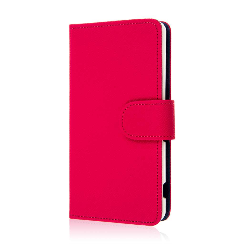 Sony Xperia Z3v - Hot Pink MPERO FLEX FLIP Wallet Case Cover