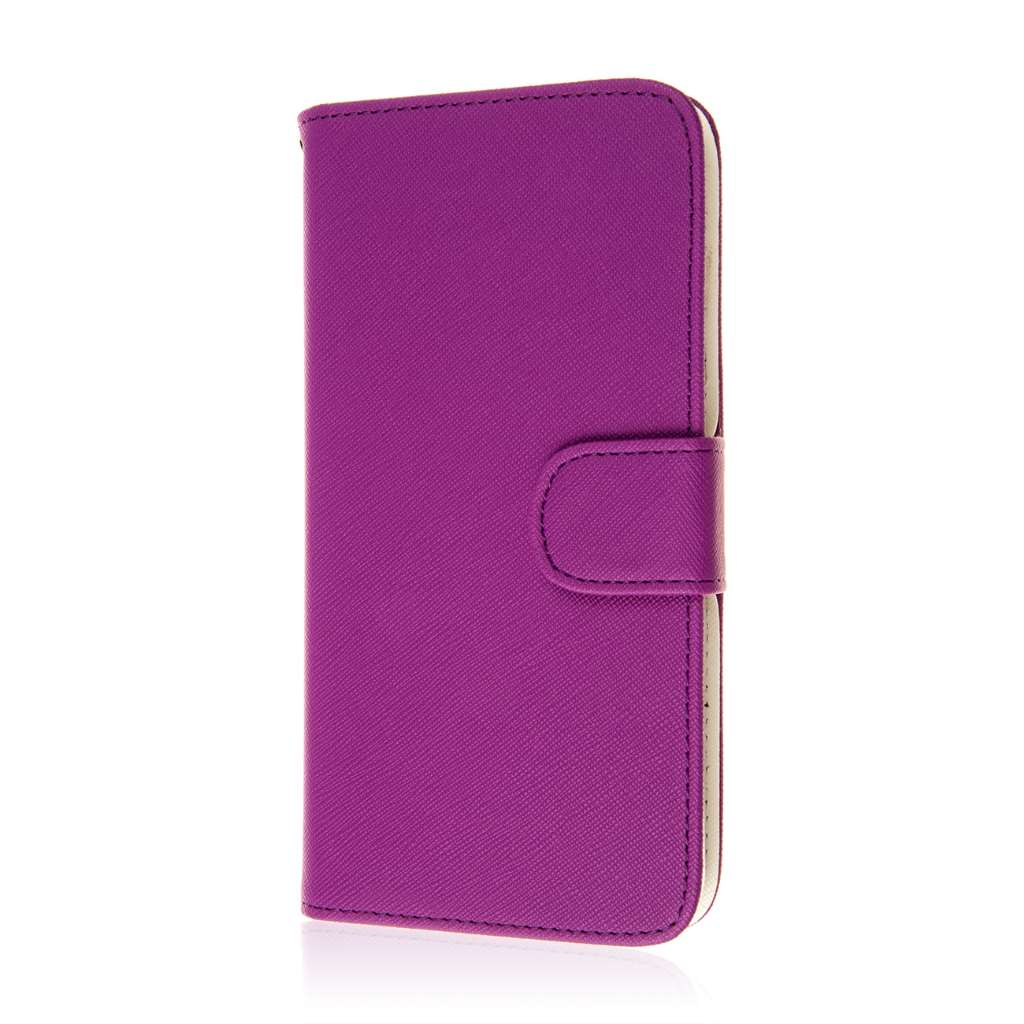 HTC Desire 816 - Purple MPERO FLEX FLIP Wallet Case Cover