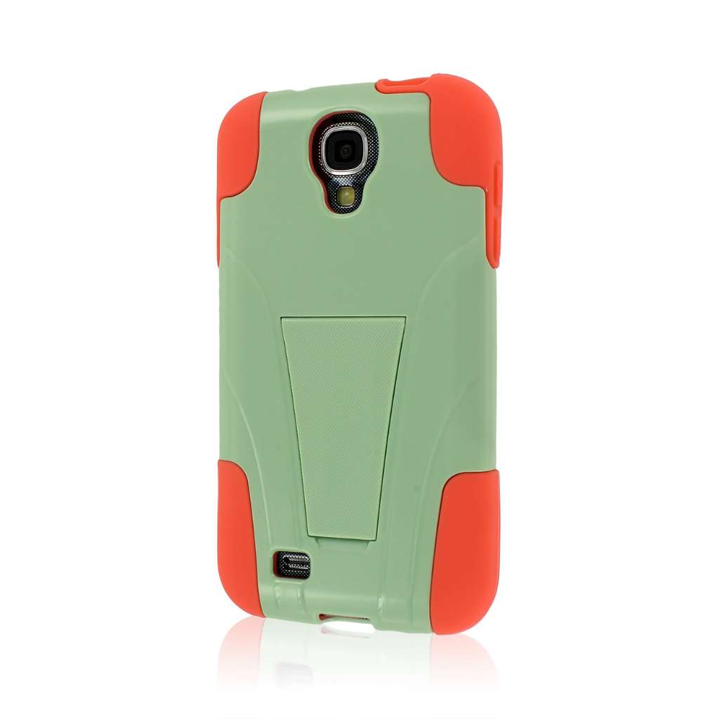 Samsung Galaxy S4 - Coral / Mint MPERO IMPACT X - Kickstand Case Cover