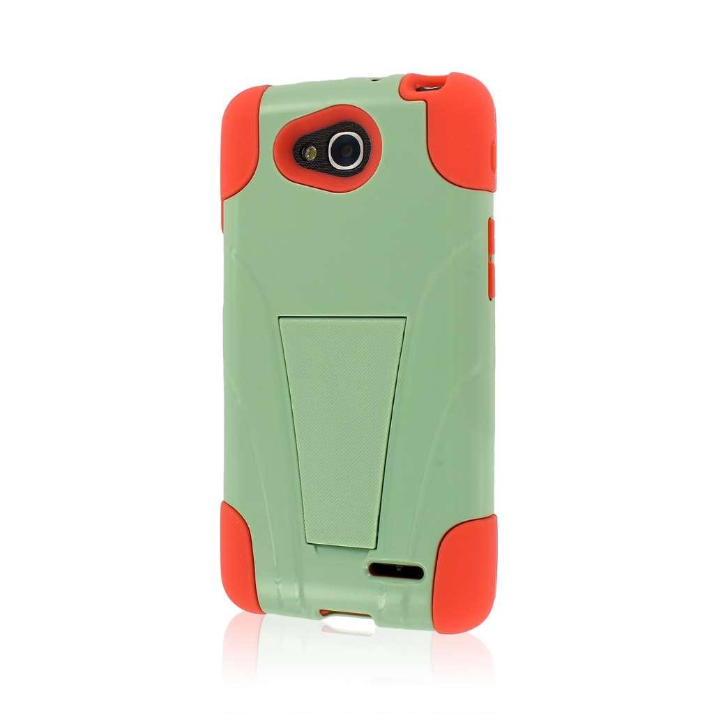 LG Optimus L90 - Coral / Mint MPERO IMPACT X - Kickstand Case Cover