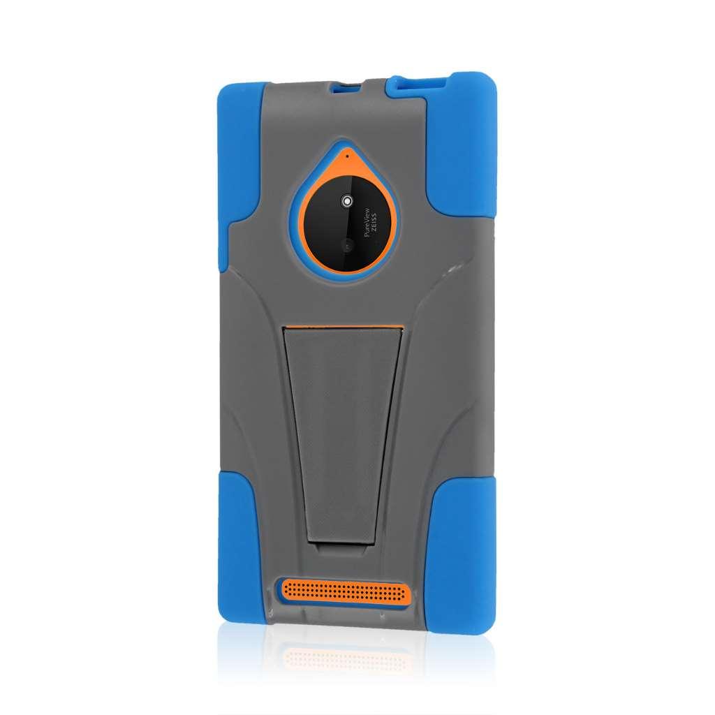 Nokia Lumia 830 - Blue / Gray MPERO IMPACT X - Kickstand Case Cover