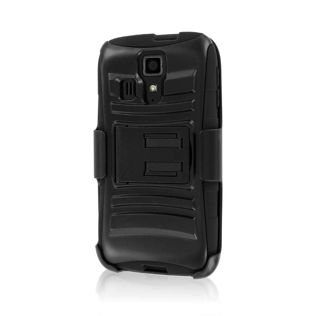 Kyocera Hydro Icon - Black MPERO IMPACT XT - Kickstand Case Cover