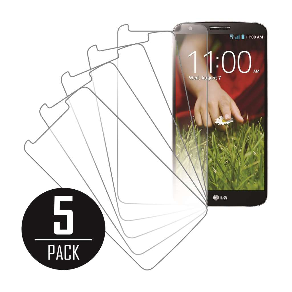 LG G2 MPERO 5 Pack of Clear Screen Protectors