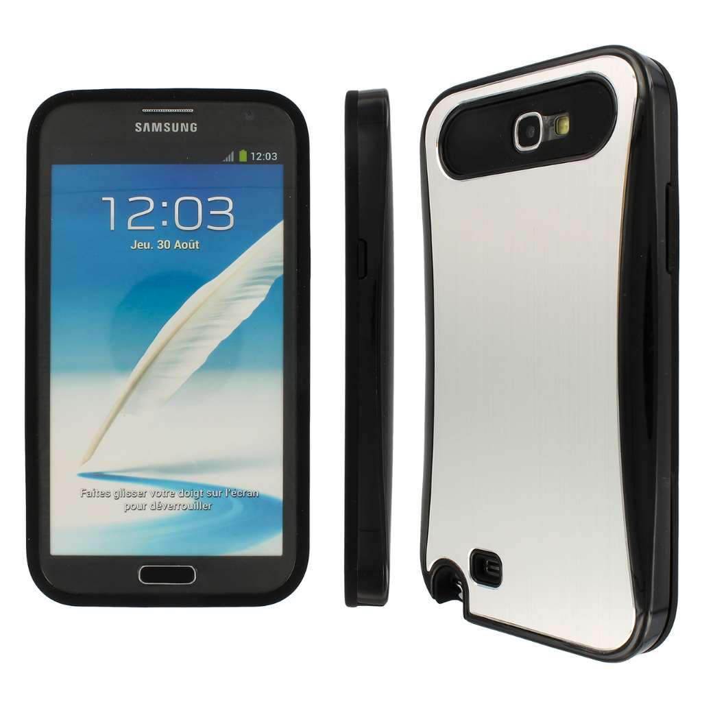 Samsung Galaxy Note 2 Brushed Aluminum MPERO FUSION AL - Protective Case