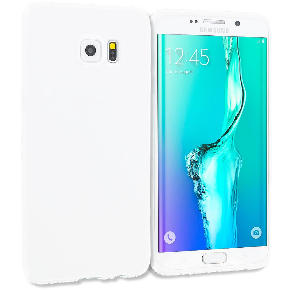 Samsung Galaxy S6 Edge Plus + White TPU Rubber Skin Case Cover