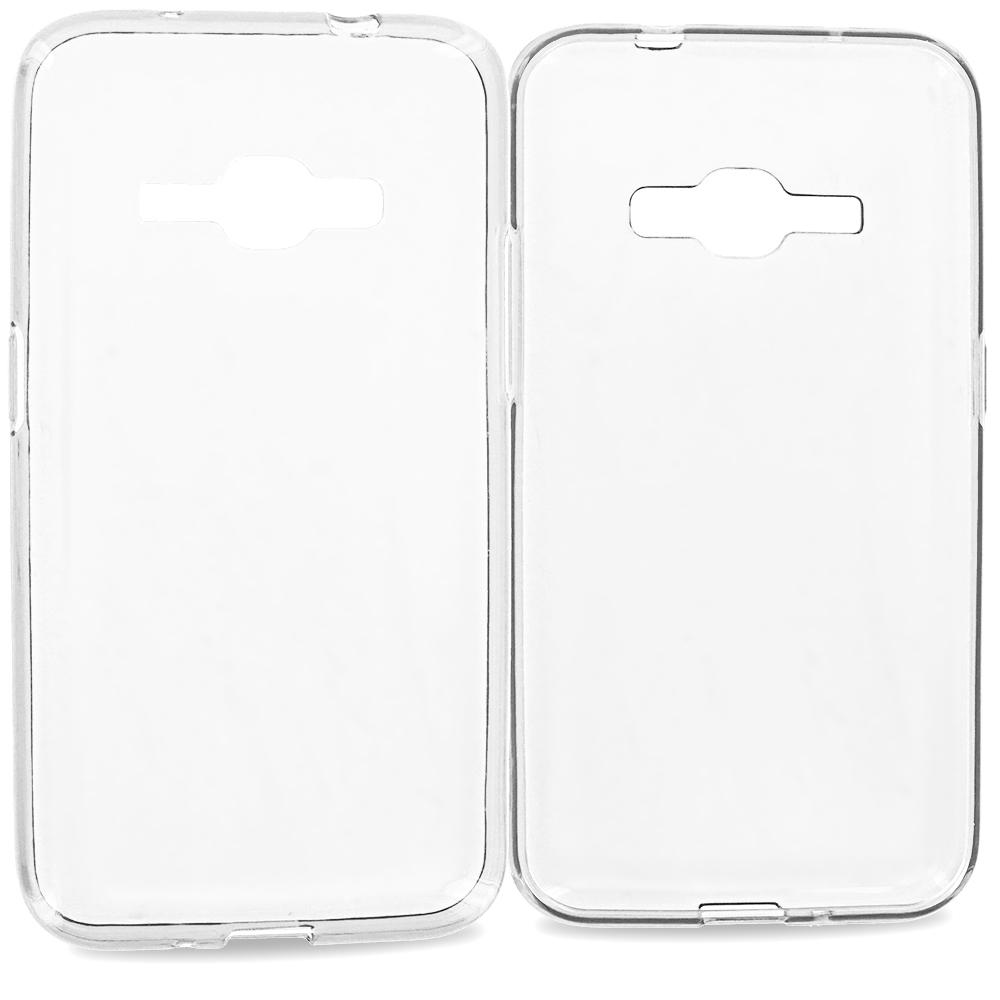 Samsung Galaxy J1 2016 Amp 2 Clear TPU Rubber Skin Case Cover