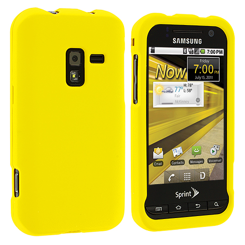Samsung Conquer 4G D600 Yellow Hard Rubberized Case Cover
