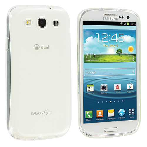Samsung Galaxy S3 Clear Plain TPU Rubber Skin Case Cover