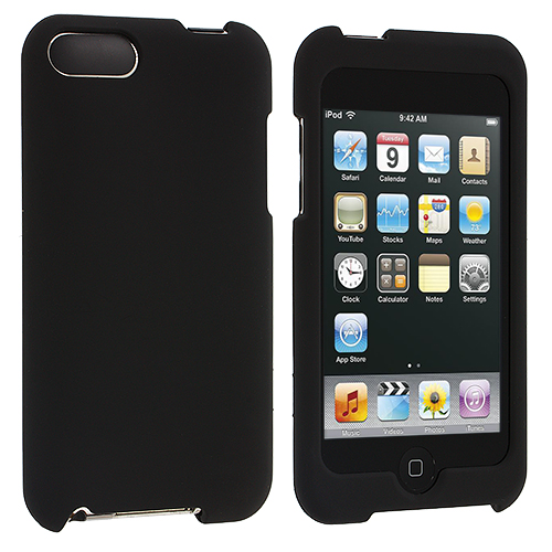 Apple iPod Touch 3rd 2nd Generation Black Hard Rubberized Case Cover
