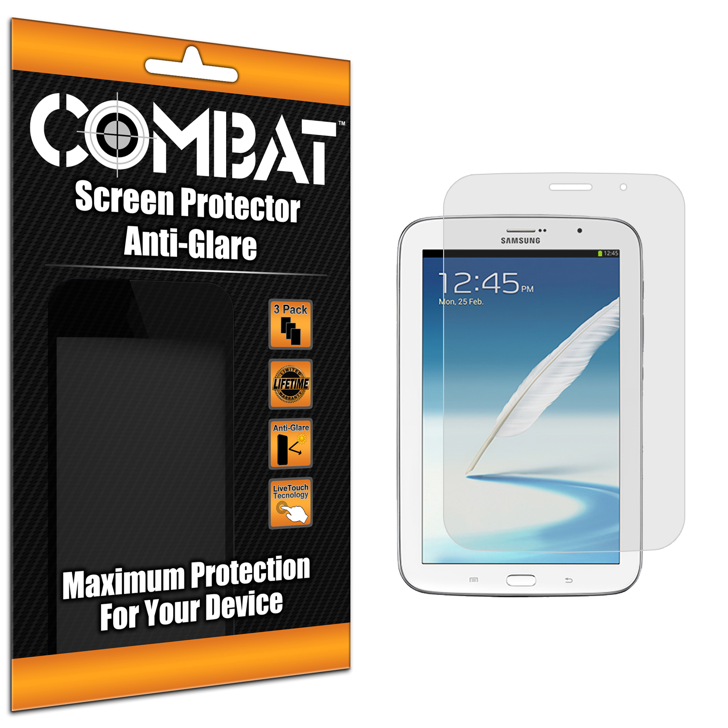 Samsung Galaxy Note 8.0 Combat 3 Pack Anti-Glare Matte Screen Protector
