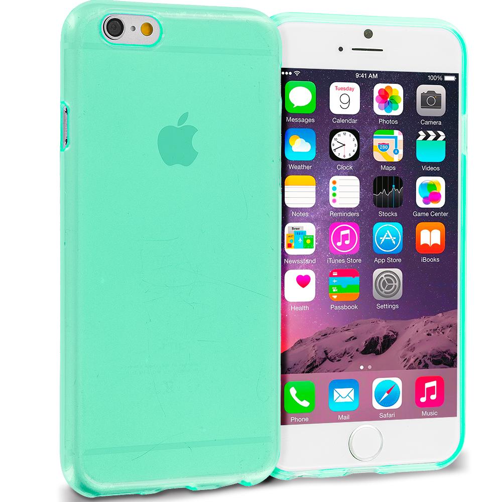 Apple iPhone 6 Mint Green (Transparent) TPU Rubber Skin Case Cover