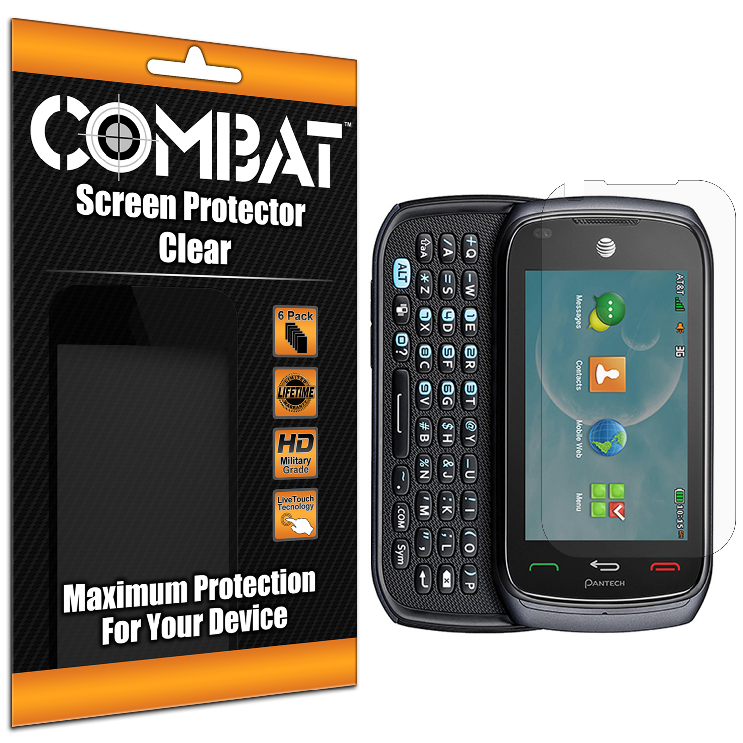 Pantech Vybe Combat 6 Pack HD Clear Screen Protector
