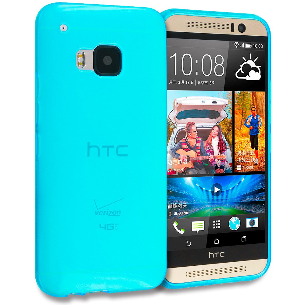 HTC One M9 Baby Blue TPU Rubber Skin Case Cover