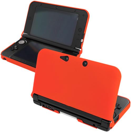 New 2015 Nintendo 3DS XL Orange Hard Rubberized Case Cover