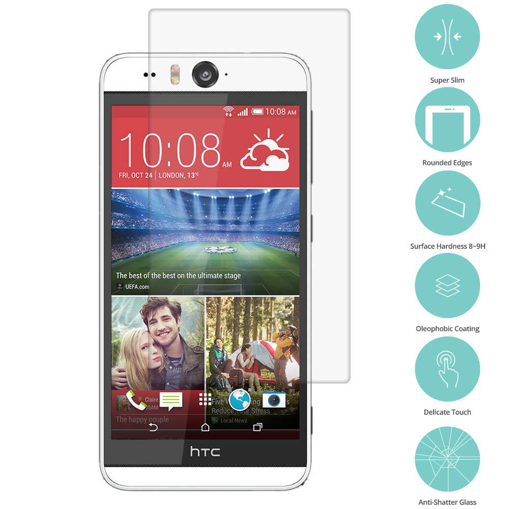 HTC Desire EYE Clear Tempered Glass Film Screen Protector Clear