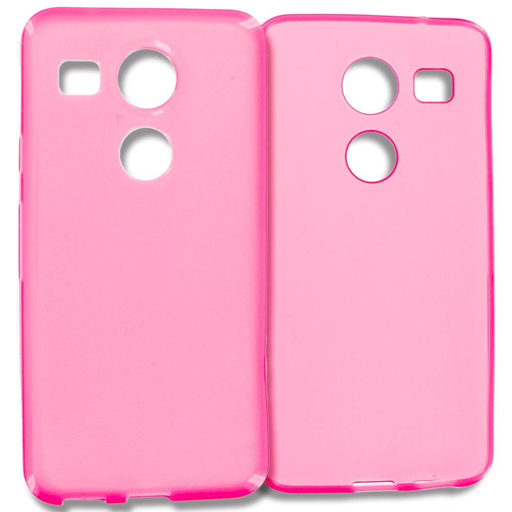 LG Google Nexus 5X Hot Pink TPU Rubber Skin Case Cover