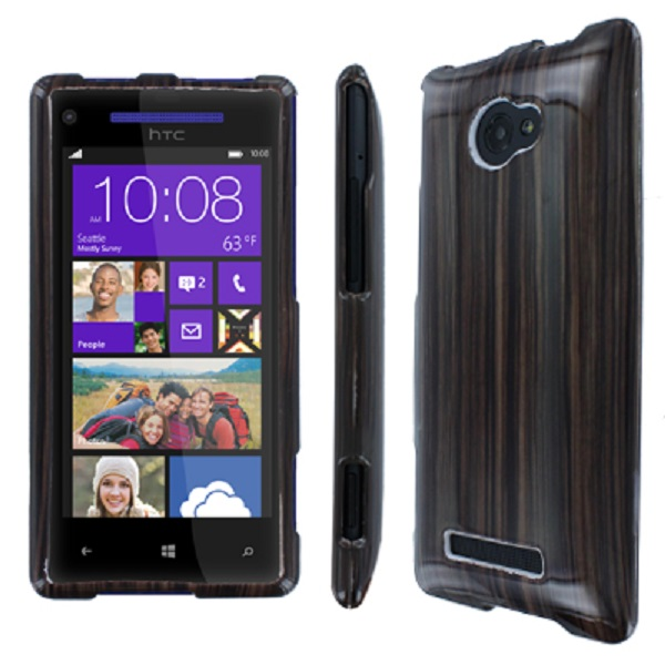 HTC Windows Phone 8X MPERO Full Protection Zebra Wood Case Cover