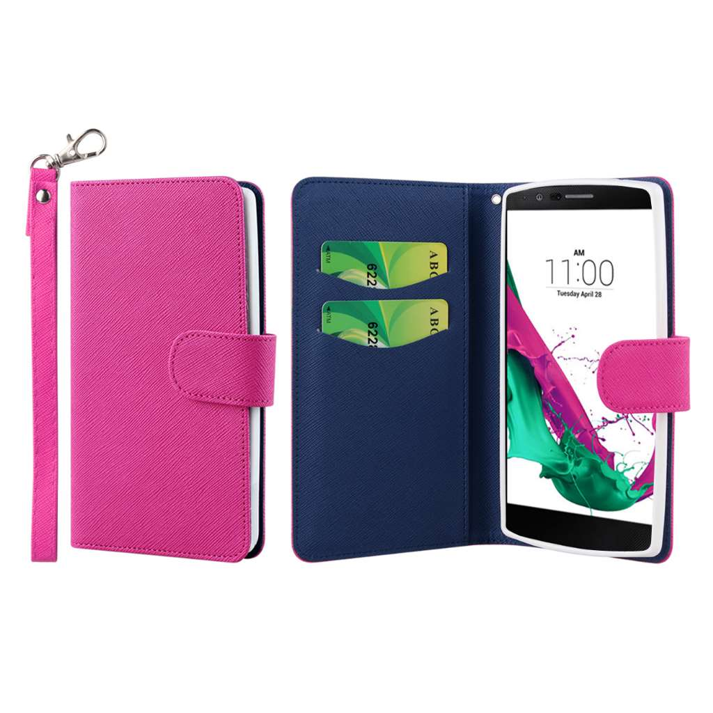 LG G4 - Hot Pink MPERO FLEX FLIP Wallet Case Cover