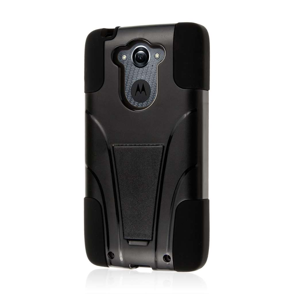 Motorola DROID TURBO - Black MPERO IMPACT X - Kickstand Case Cover