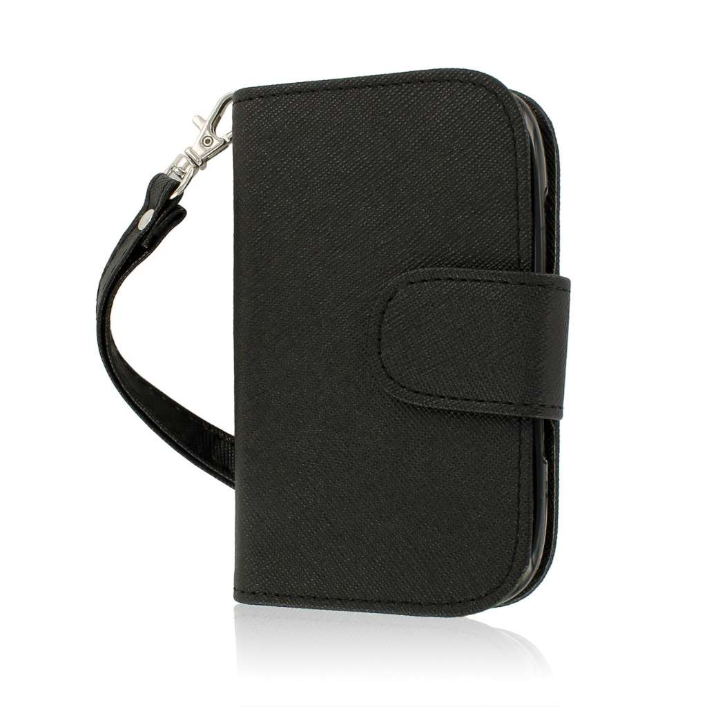 BlackBerry Curve 9310 / 9315 - Black MPERO FLEX FLIP Wallet Case Cover