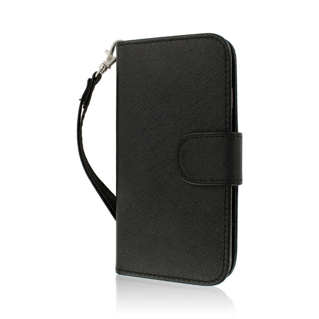 Apple iPhone 6/6S - Black MPERO FLEX FLIP Wallet Case Cover