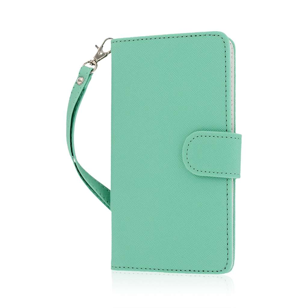 Samsung Galaxy Note 4 - Mint MPERO FLEX FLIP Wallet Case Cover