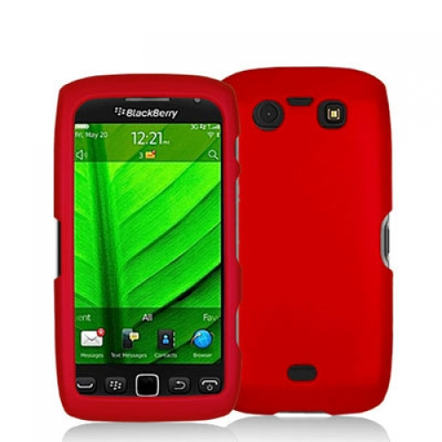 BlackBerry Torch 9850 9860 Red Hard Rubberized Case Cover