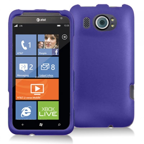 HTC Titan II 2 Purple Hard Rubberized Case Cover