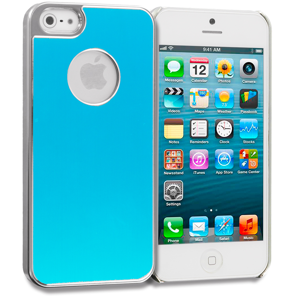 Apple iPhone 5/5S/SE Baby Blue Aluminum Metal Hard Case Cover