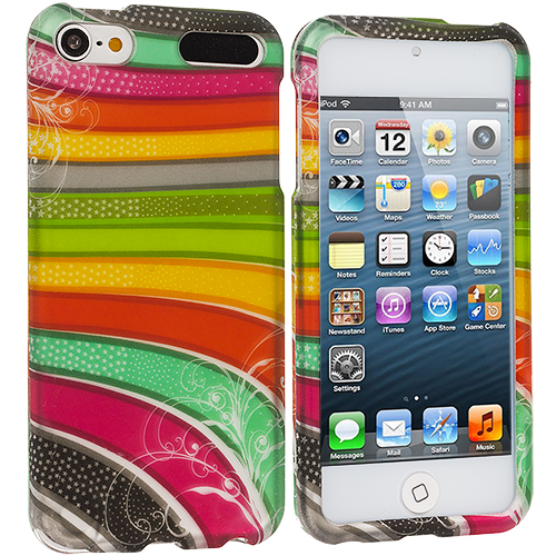 Apple iPod Touch 5th Generation 5G 5 Candy Bar Hard Rubberized Design Case Cover